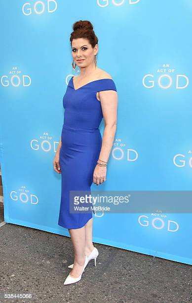 Debra Messing attends the Broadway opening night performance of 'An Act Of God' at the Booth Theatre on June 6 2016 in New York City