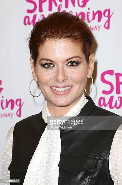 Debra Messing attends the Broadway opening night performance of 'Spring Awakening' at the Brooks Atkinson Theatre on September 27 2015 in New York...