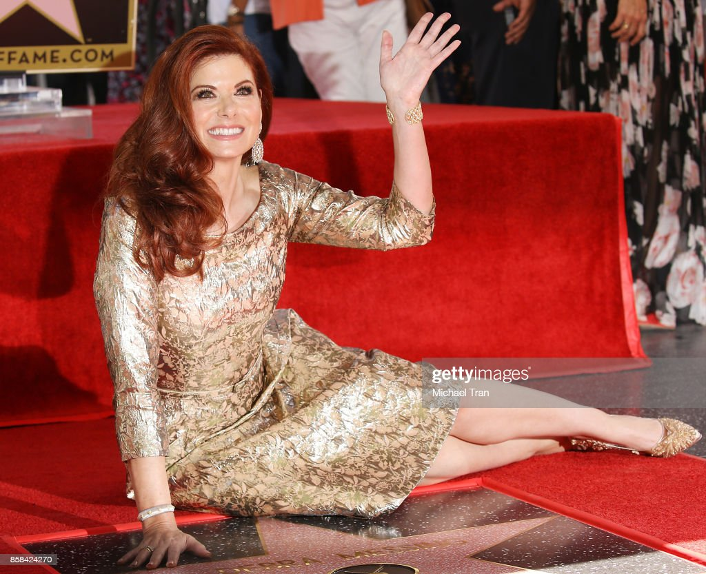 Debra Messing attends the ceremony honoring her with a Star on The Hollywood Walk of Fame held October 6, 2017 in Hollywood, California.