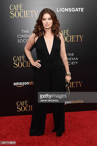 Debra Messing attends the premiere of 'Cafe Society' hosted by Amazon Lionsgate with The Cinema Society at Paris Theatre on July 13 2016 in New York...