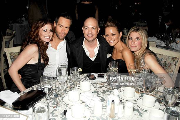 Debra Messing Chris Diamantopoulos David Evangelista Becki Newton and Gina Glickman attend TRIBECA FILM INSTITUTE 'QUANTUM OF SOLACE' Afterparty at...