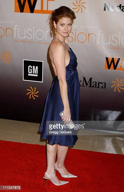 Debra Messing during 2005 Women In Film Crystal Lucy Awards Arrivals in Beverly Hills California United States