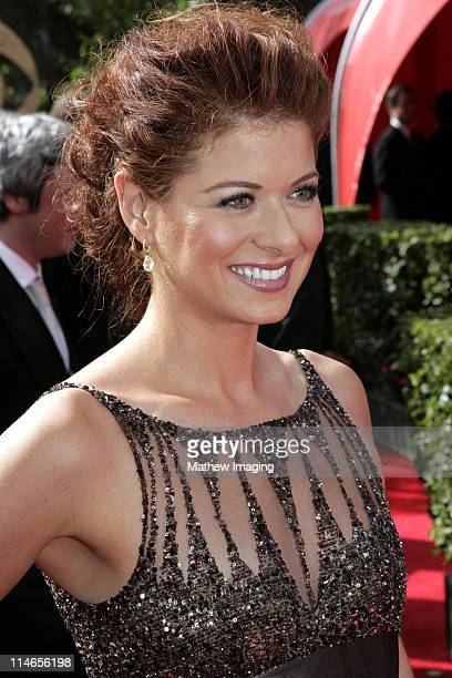 Debra Messing during 57th Annual Primetime Emmy Awards Red Carpet at The Shrine in Los Angeles California United States