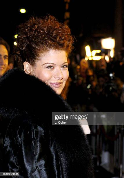 Debra Messing during 'Along Came Polly' Premiere Red Carpet at The Grauman's Chinese Theatre in Hollywood California United States