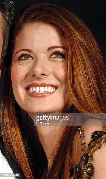 Debra Messing during Debra Messing and Dermot Mulroney Announce the 10th Annual Moviefone Moviegoer Awards Nominations at The Regent Beverly Wilshire...