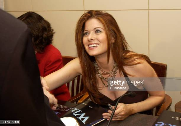 Debra Messing during 'Will Grace' Cast Sign Their New CD 'Let the Music Out' at Barnes Noble in New York New York United States