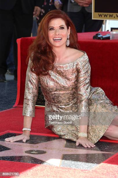 Debra Messing Honored With Star On The Hollywood Walk Of Fame on October 6 2017 in Hollywood California