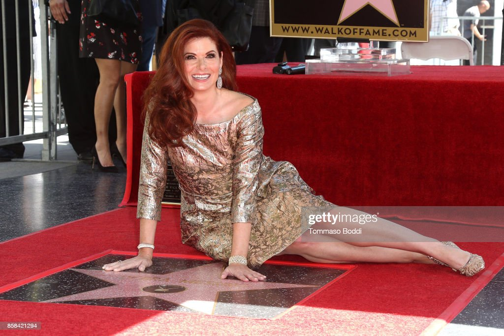 Debra Messing Honored With Star On The Hollywood Walk Of Fame on October 6, 2017 in Hollywood, California.