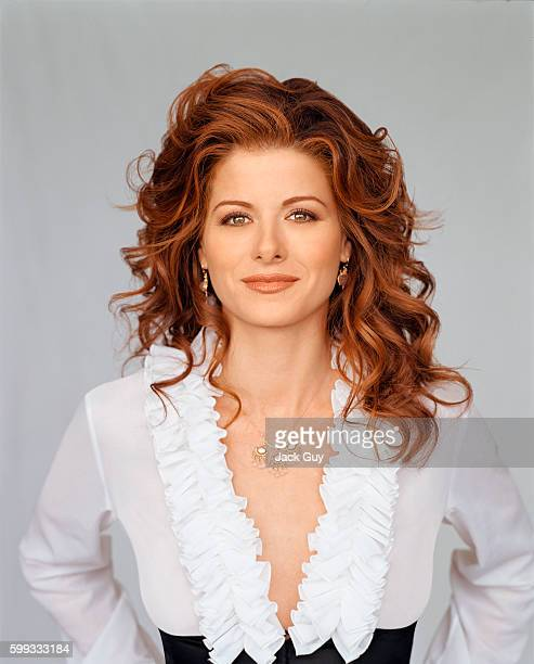 Debra Messing is photographed for Emmy Magazine in 2003 in Los Angeles California