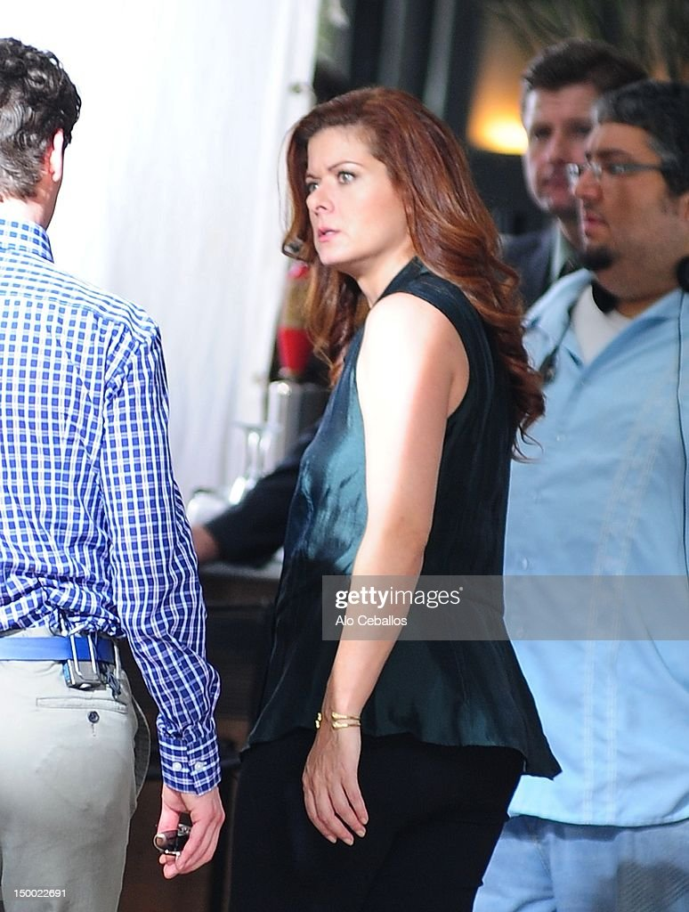 <a gi-track='captionPersonalityLinkClicked' href=/galleries/search?phrase=Debra+Messing&family=editorial&specificpeople=202114 ng-click='$event.stopPropagation()'>Debra Messing</a> is seen on the set of 'Smash' on August 8, 2012 in New York City.