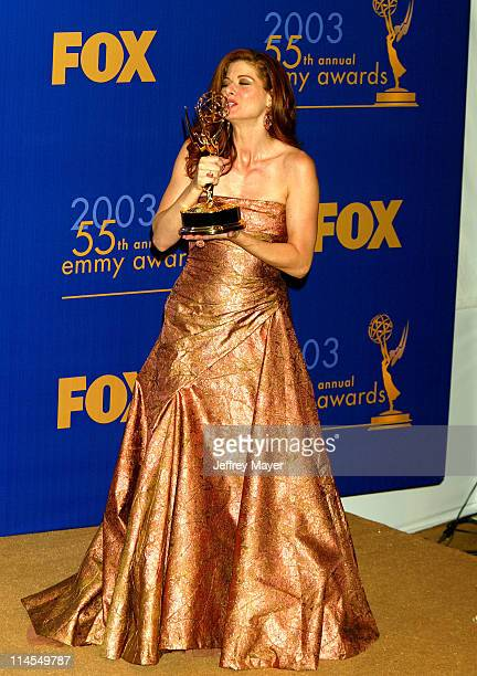 Debra Messing Lead Actress Comedy Series during The 55th Annual Primetime Emmy Awards Press Room at The Shrine Theater in Los Angeles California...