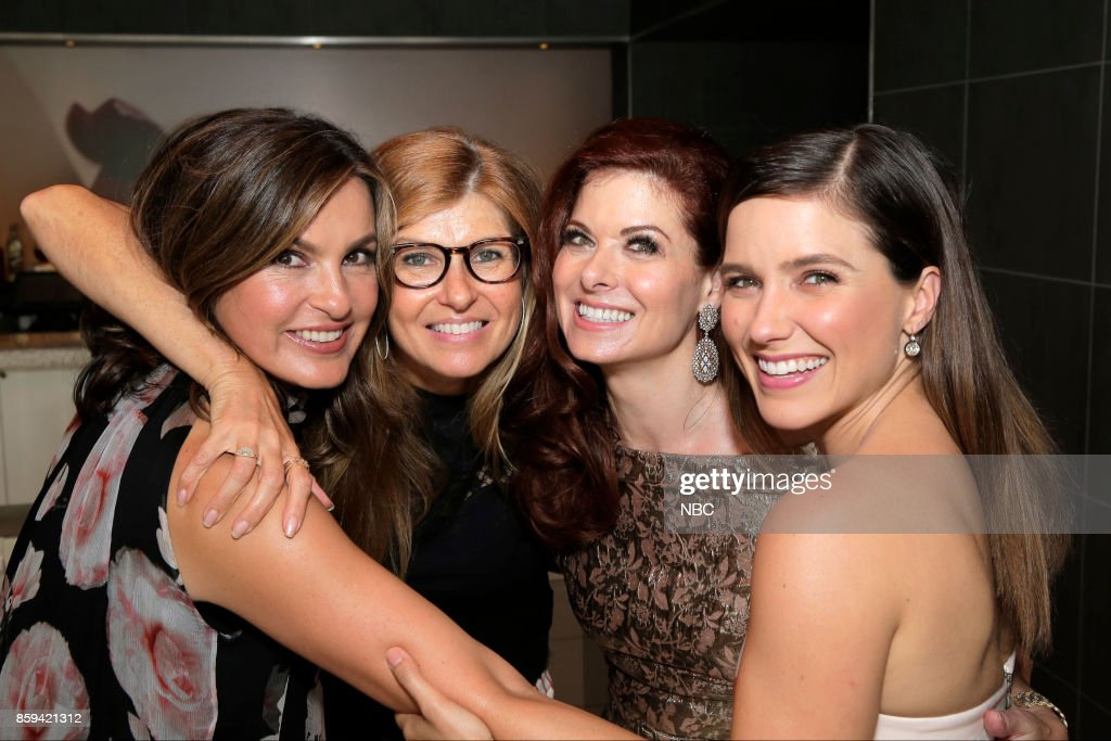 WILL & GRACE -- 'Debra Messing on the Hollywood Walk of Fame' -- Pictured: (l-r) Mariska Hargitay, Connie Britton, Debra Messing, Sophia Bush at the honoring of Debra Messing with a star on the Hollywood Walk of Fame, Friday, October 6, 2017 --
