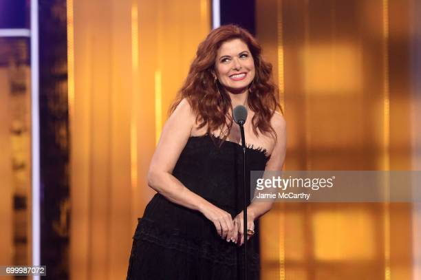 Debra Messing speaks onstage at the Logo's 2017 Trailblazer Honors event at Cathedral of St John the Divine on June 22 2017 in New York City