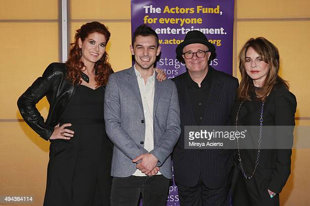 Debra Messing Wesley Taylor Nathan Lane and Stockard Channing attend 'Bridging the Gap and Other Short Plays by Wesley Taylor' benefit reading at New...