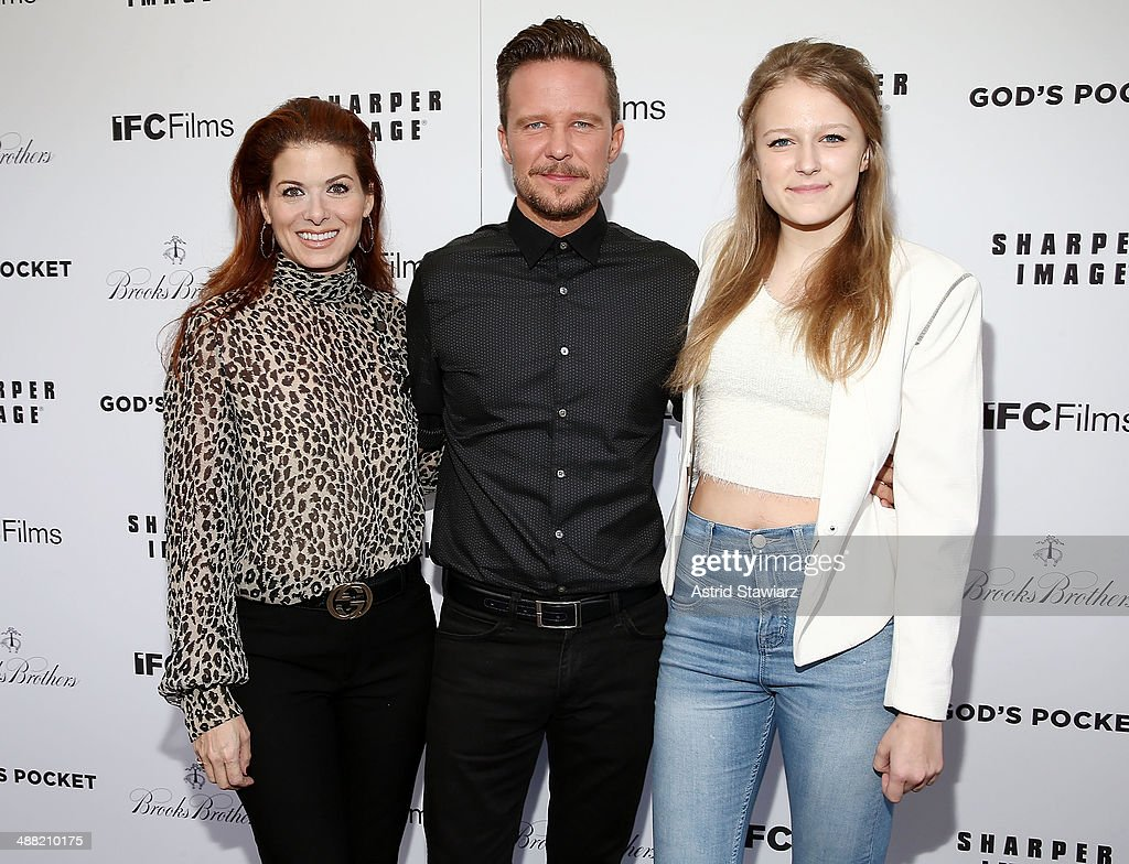 Debra Messing, Will Chase and Daisy Chase attends 'God's Pocket' screening at IFC Center on May 4, 2014 in New York City.