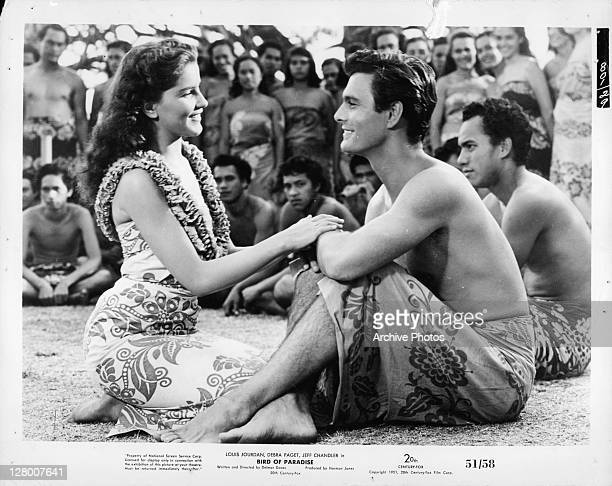 Debra Paget in a scene from the film 'Bird Of Paridise' 1951