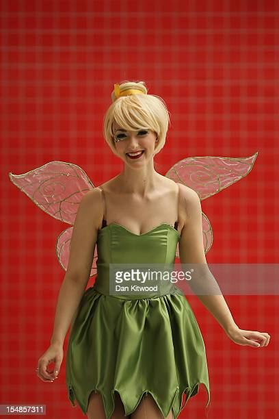 Debra Phillips from Manchester poses as Tinkerbell from Peter Pan ahead of the MCM London Comic Con Expo at ExCel on October 26 2012 in London...
