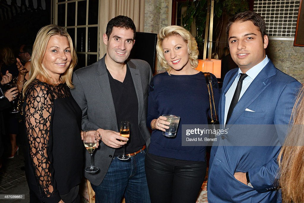 Debra Reuben Zafar Rushdie Natalie Coyle and Jamie Reuben attend the book launch party for 'How Google Works' by Eric Schmidt and Jonathan Rosenberg...