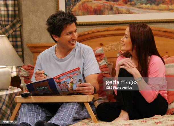 Debra shares a tender moment with Ray on the May 16 series finale of EVERYBODY LOVES RAYMOND