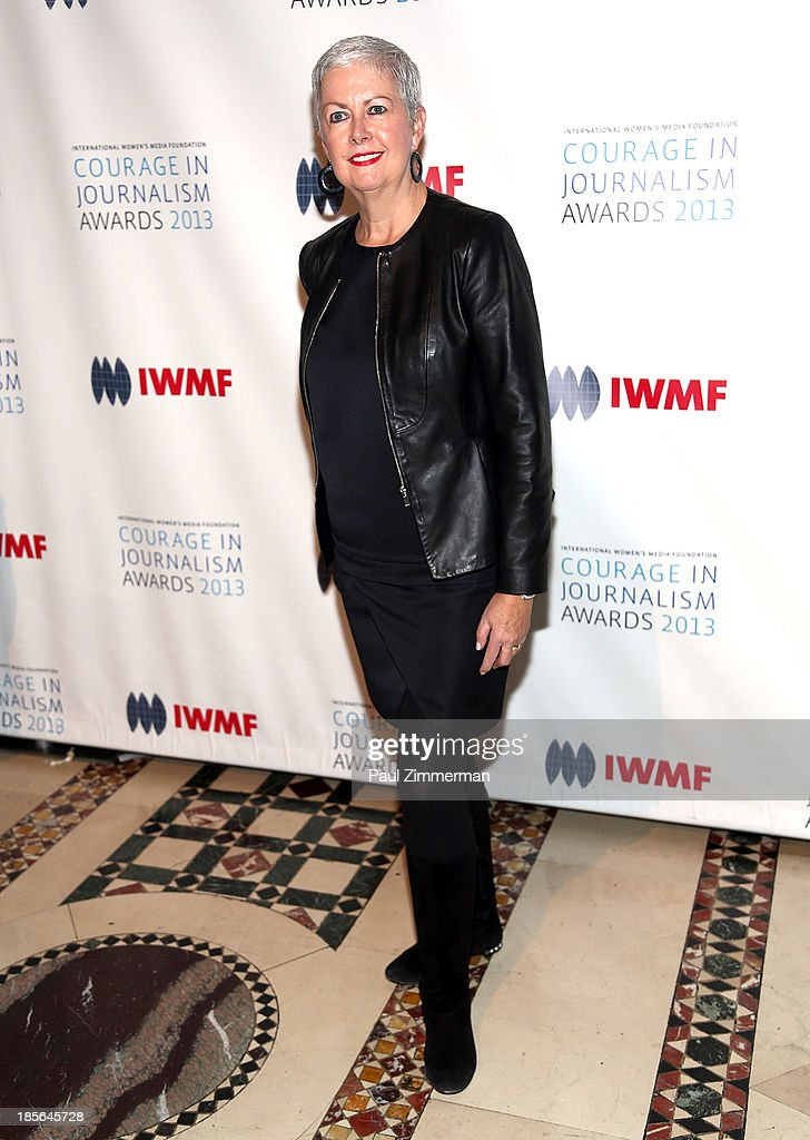 Debra Shriver attends the International Women's Media Foundation's 2013 Courage In Journalism awards at Cipriani 42nd Street on October 23, 2013 in New York City.