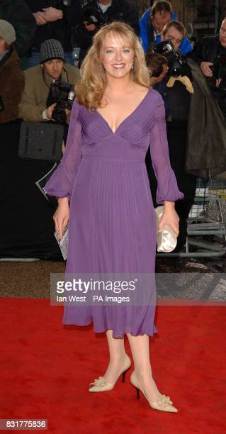 Debra Stephenson who plays Frankie Baldwin arrives for An Audience With Coronation Street at London Television Centre Sunday 9 April 2006