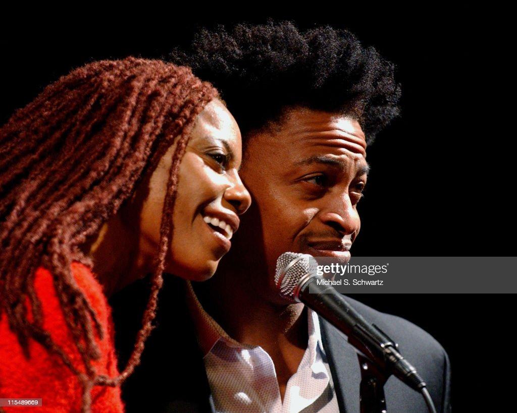 Debra Wilson Skelton and Rodney Mason perform at the Hollywood Improv on October 4 2007 in Hollywood California
