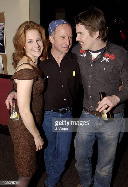 Debra Winger Arliss Howard Ethan Hawke during Big Bad Love Film Release Party at The Cutting Room in New York City New York United States
