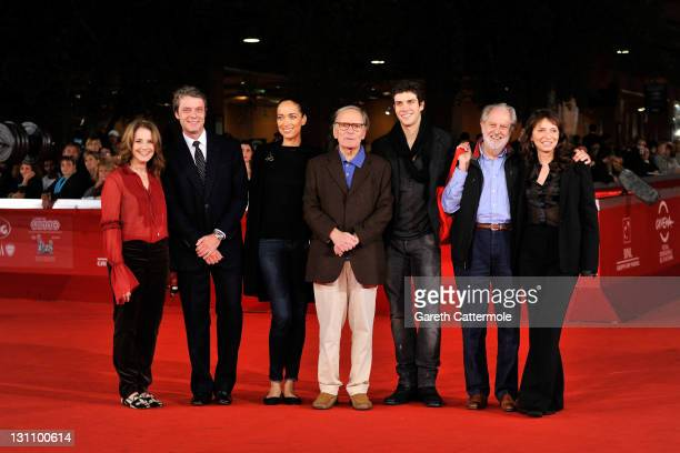 Debra Winger Pierre Thoretton Carmen Chaplin Ennio Morricone Roberto Bolle Susanne Bier and David Puttnam of the International Jury attends a...