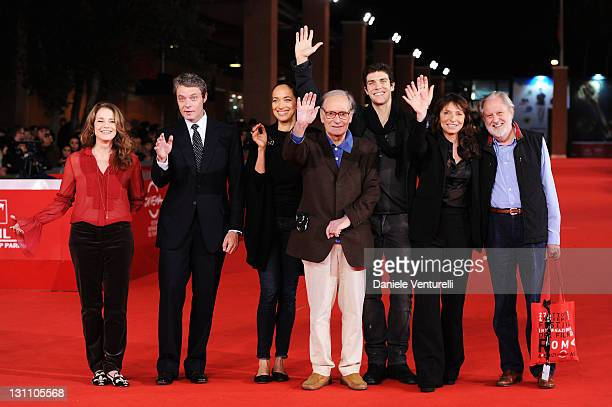 Debra Winger Pierre Thoretton Carmen Chaplin Ennio Morricone Roberto Bolle Susanne Bier and David Puttman attend the International Jury Photocall...
