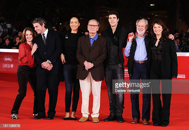 Debra Winger Pierre Thoretton Carmen Chaplin Ennio Morricone Roberto Bolle David Puttman and Susanne Bier attend the International Jury Photocall...