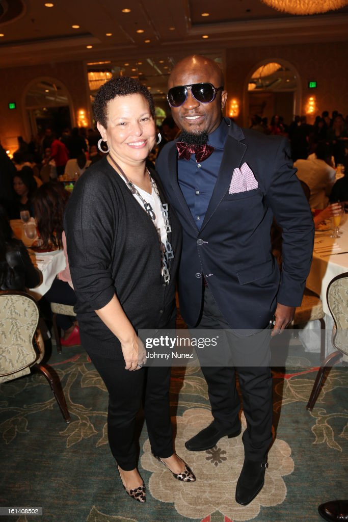 Debre Lee and Femi Ojetunde attend The 9th Annual Bryan-Michael Cox/SESAC Brunch Honoring Ludacris at Four Seasons Hotel Los Angeles at Beverly Hills on February 10, 2013 in Beverly Hills, California.