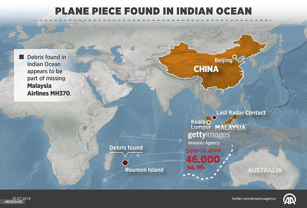 Debris found on the island of Reunion east of Madagascar appears to be part of Malaysia Airlines MH370 that disappeared in 2014