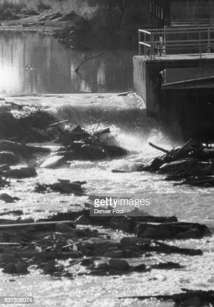 Debris Near old Streetcar power station Platte River Credit Denver Post