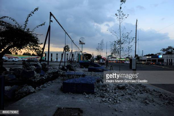 Debris of Villa Coapa market are seen after the magnitude 71 earthquake jolted central Mexico damaging buildings knocking out power and causing alarm...