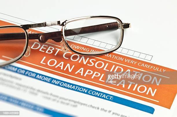 Schulden Konsolidierung Darlehen Anwendung