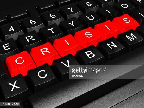 debt Financial Crisis Computer Keyboard