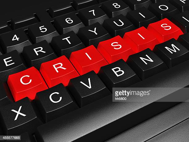 Dette crise financière Clavier d'ordinateur