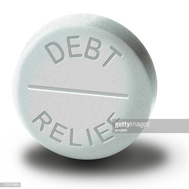 Debt Relief Pill created in Photoshop