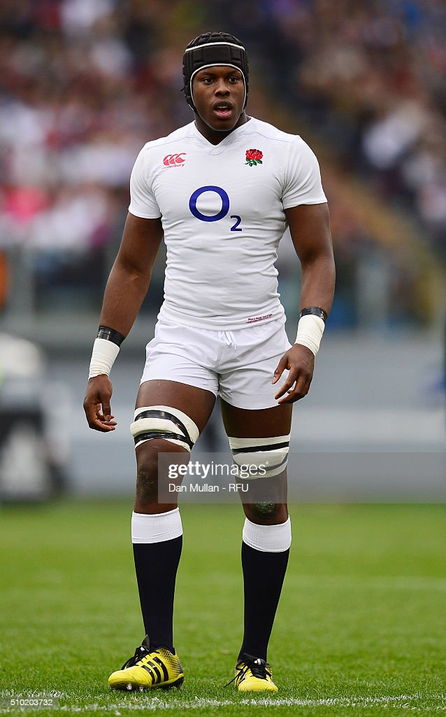 Debut cap <a gi-track='captionPersonalityLinkClicked' href=/galleries/search?phrase=Maro+Itoje&family=editorial&specificpeople=5967858 ng-click='$event.stopPropagation()'>Maro Itoje</a> of England looks on during the RBS Six Nations match between Italy and England at the Stadio Olimpico on February 14, 2016 in Rome, Italy.