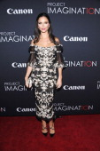 Debut filmmaker Georgina Chapman attends Canon's 'Project Imaginat10n' Film Festival opening night at Alice Tully Hall at Lincoln Center on October...