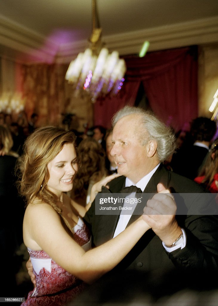 Debutante Bronwen Carter and father, editor of Vanity Fair, <a gi-track='captionPersonalityLinkClicked' href=/galleries/search?phrase=Graydon+Carter&family=editorial&specificpeople=605905 ng-click='$event.stopPropagation()'>Graydon Carter</a> are photographed at the Crillon Debutante Ball for Vanity Fair Magazine on November 22, 2012 in Paris, France.