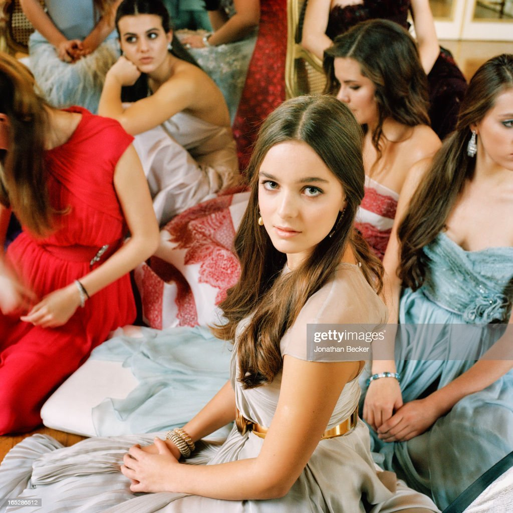 Debutante Celine Buckens is photographed at the Crillon Debutante Ball for Vanity Fair Magazine on November 22, 2012 in Paris, France. PUBLISHED