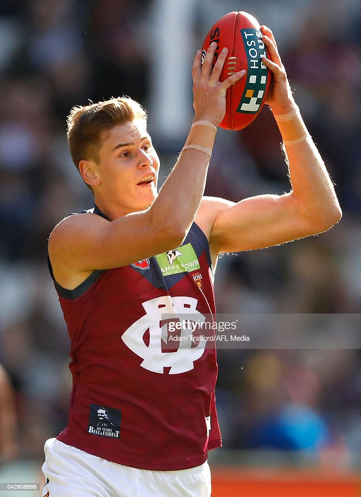 Debutante, Matthew Hammelmann of the Lions in action during the 2016 AFL Round 14 match between the Richmond Tigers and the Brisbane Lions at the Melbourne Cricket Ground on June 25, 2016 in Melbourne, Australia.