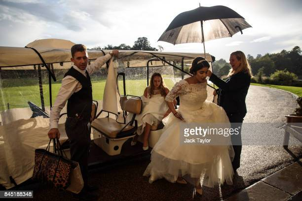 Debutantes arrive at Leeds Castle for the Queen Charlotte's Ball on September 9 2017 in Maidstone England In 1780 the first debutante's Ball was held...