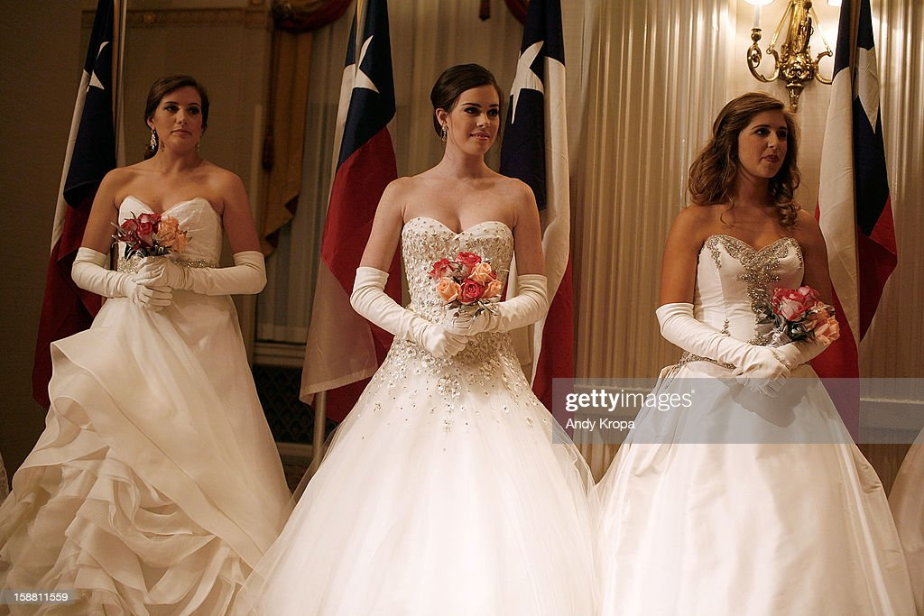 Debutantes greet guests at The 58th International Debutante Ball at The Waldorf-Astoria on December 29, 2012 in New York City.