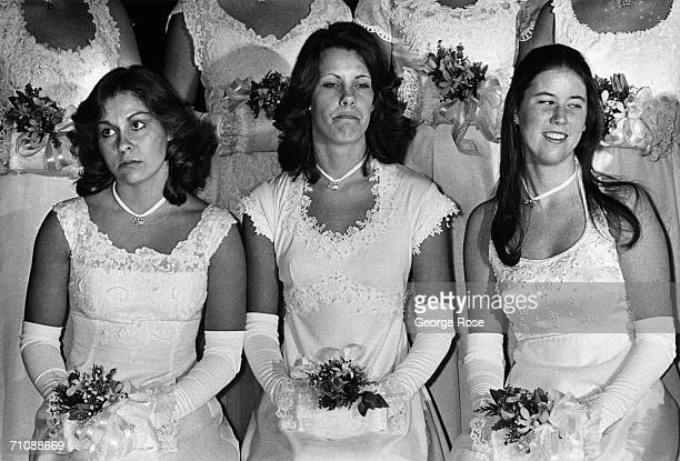 Debutantes wait for the 'coming out' announcement at the 1978 San Marino California Debutante Ball