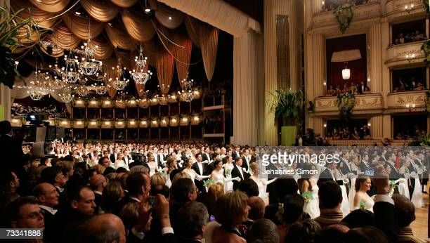 Debutants waltz during the Vienna Opera Ball on February 15 Vienna Austria