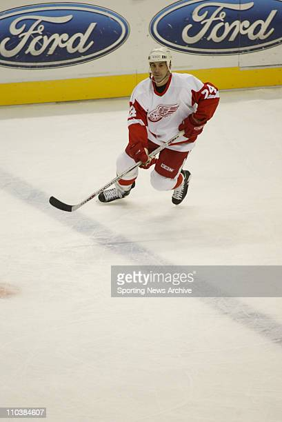 Dec 05 2006 St Louis MO USA The Detroit Red Wings CHRIS CHELIOS against the St Louis Blues at the ScottTrade Center The Red Wings won 51