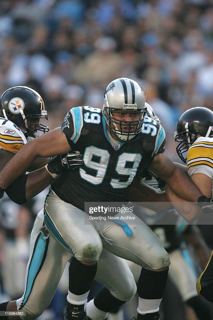 Dec 17 2006 Charlotte NC USA NFL Football Pittsburgh Steelers against Carolina Panthers Maake Kemoeatu at Bank of America Stadium The Steelers won 373