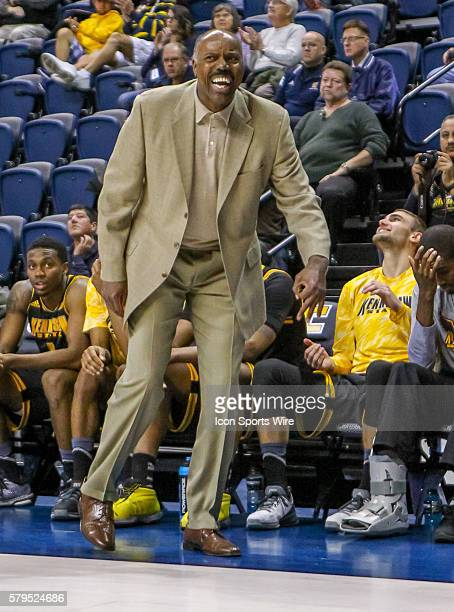 Kennesaw State Owls head coach Al Skinner reacts to a play during the game between UT Chattanooga and Kennesaw State Chattanooga defeats Kennesaw...